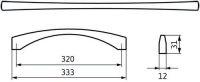 12991 - úchytka 320 mm, antik ocel efekt