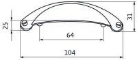14087 - mušle starostříbro 64mm 12