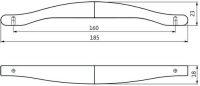 14230 - Úchytka kovová 160mm / chrom lesklý 12