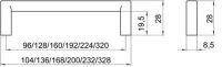 14269 - Kovová úchytka 160mm / starostříbro 12