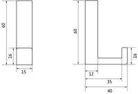 14270 - Kovový věšák / starostříbro 12