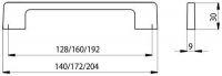 14291 - Úchytka kovová 128mm / černý mat