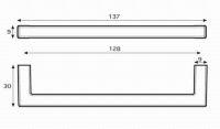 14514 - plastová úchytka 128mm / nikl broušený