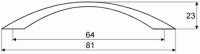 44028 - Úchytka 64mm mosaz