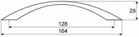 44038 - Úchytka 128mm satén chrom