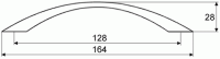 44041 - Úchytka 128mm černá matná
