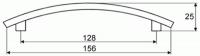 44044 - Úchytka 128mm chrom lesklý