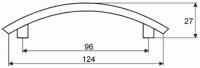 44045 - Úchytka 96mm satén nikl