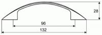 44050 - Úchytka 96mm chrom lesklý