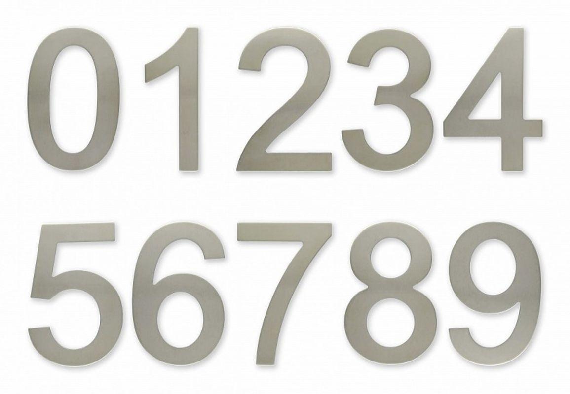 """C100s Číslice 100 mm - """"1"""" - NEREZ samolepící 62"""