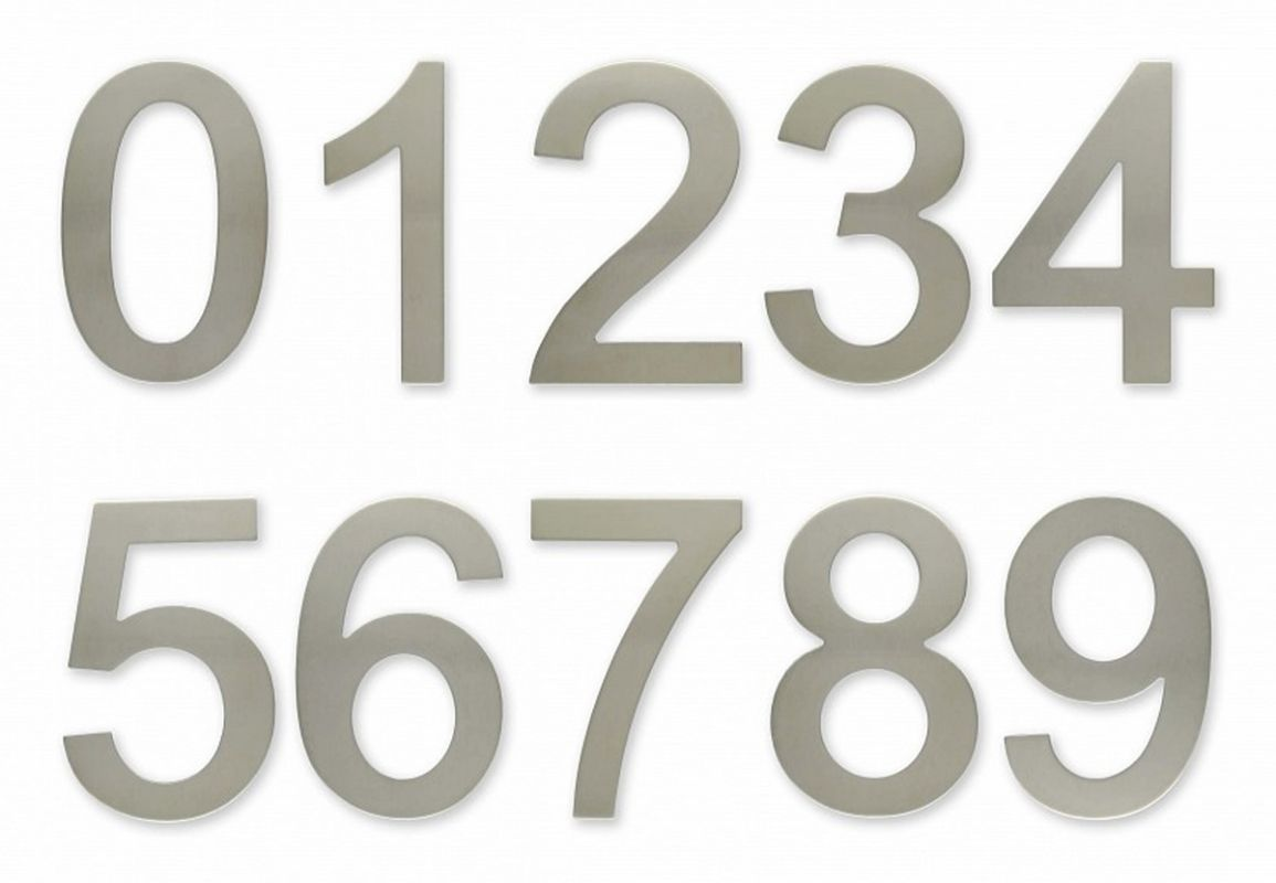 """C100s Číslice 100 mm - """"2"""" - NEREZ samolepící 62"""