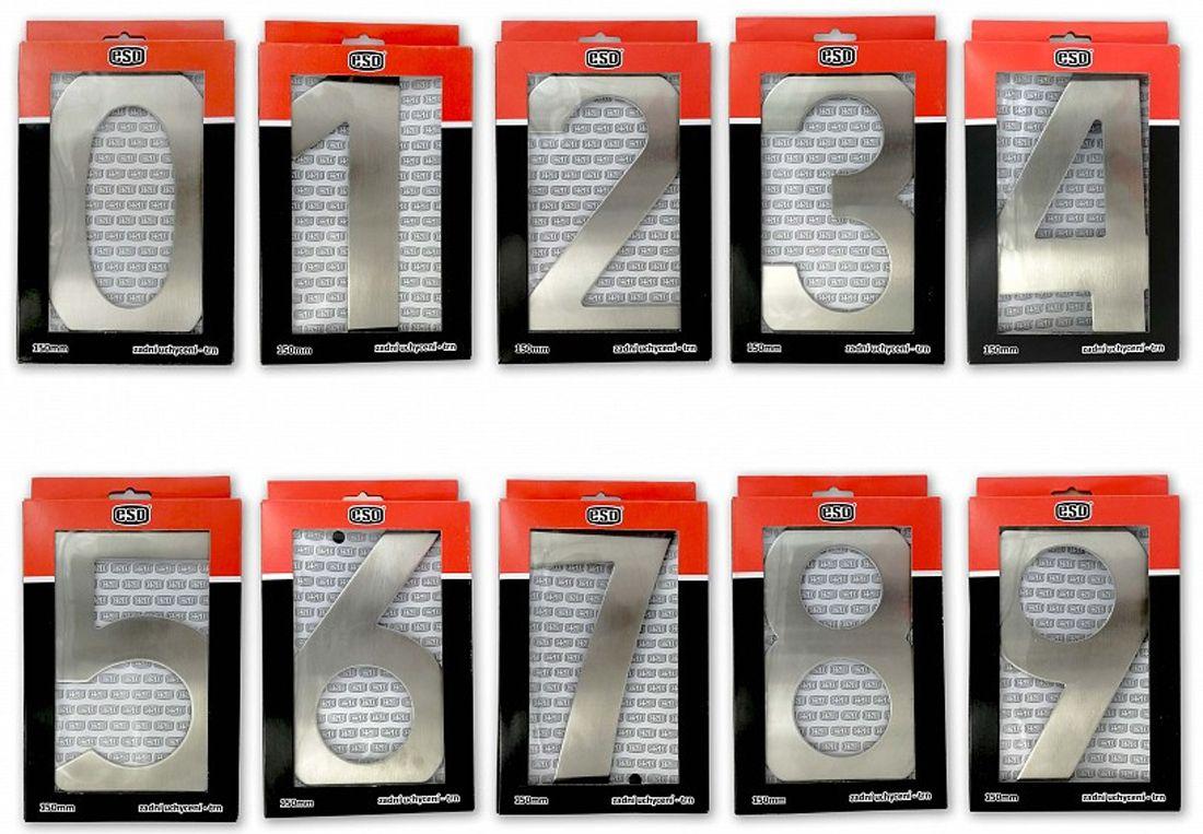 """C200 Číslice 200 mm - """"9"""" - NEREZ 62"""