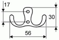 44091 - Dvojháček satén chrom