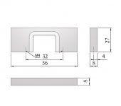 62101 - HANKA úchytka 32mm nikl kartáč