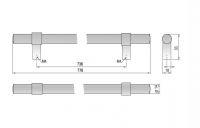 62119 - GINA úchytka 736mm broušený nikl