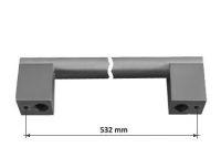 63497 - PALOMA úchytka 532mm broušený nikl 62