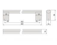 63739 - PALOMA úchytka 832mm AL 62