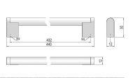 63778 - PALANA úchytka 432mm nerez 62