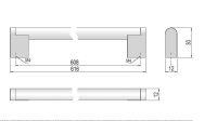 63780 - PALANA úchytka 608mm nerez 62