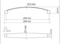 770090 - úchytka rozteč 256mm / Chrom lesklý
