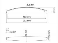 770095 - úchytka rozteč 192mm / Broušený nikl