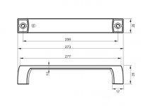 770114 - úchytka rozteč 256mm / Satén chrom