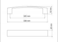 770137 - úchytka rozteč 320mm / Broušený nikl