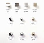 770315 - Knopka kulička pr.19mm / matný nikl