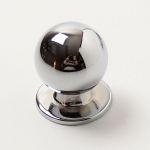 770316 - Knopka kulička pr.23mm / lesklý chrom