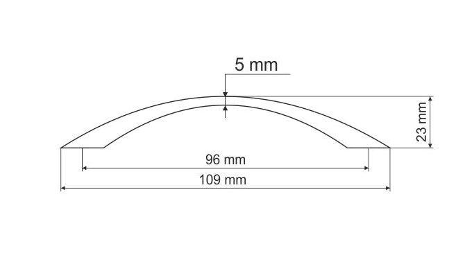 770363 - úchytka oblouk 96mm / mosaz