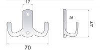 770389 - Dvojháček kov - matný nikl