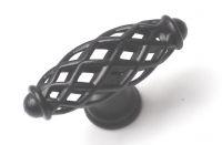 91423- Knopka dutá černá