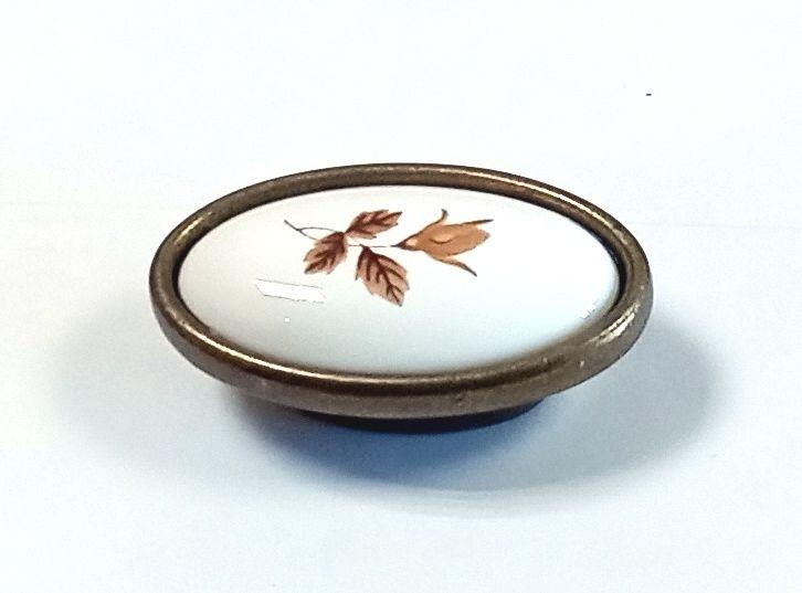 91462 - Knopka porcelán 33x57 podzim/ staromosaz