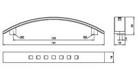 91912 - Úchyt 128mm brouš. nikl