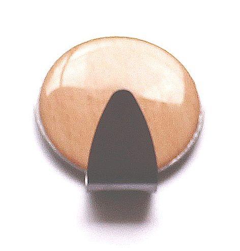 """97005 -háček samolepící nerez+dřevo """"kruh"""" pr.35mm"""
