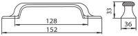 12069 - úchytka 134mm železo chromované