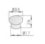 12072 - JULIUS úchytka 33mm porcelán