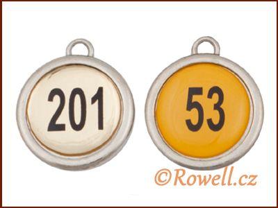 P2C Přívěšek s 2x číslem 23 mm rowell