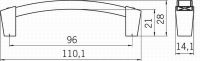 12178 - PEPA úchytka 96mm staromosaz