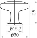 12310 - knopka chrom lesklý