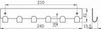 12632 - FILIP věšák chrom lesklý