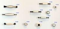 12941 - ERIKA úchytka 96mm st.stříbrná/porcel