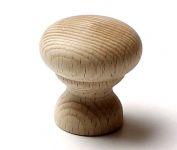 48006 dřevěná knopka pr. 34mm / přírodní