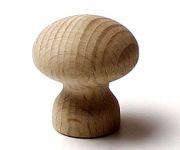 48008 dřevěná knopka pr. 34mm / přírodní