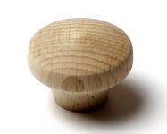 48013 dřevěná knopka pr. 40mm / přírodní