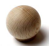 48022 dřevěná knopka pr. 34mm / přírodní
