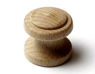 48026 dřevěná knopka pr. 34mm / přírodní