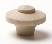 48051/1 dřevěná knopka pr. 40mm / přírodní