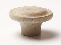 48059 dřevěná knopka pr. 40mm / přírodní