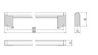63811 - PALANA úchytka 320mm nerez